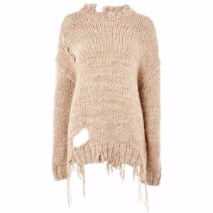 Topshop Boutique Destroyed Sweater